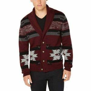 American Rag Shawl Collar Tribal Knit Cardigan